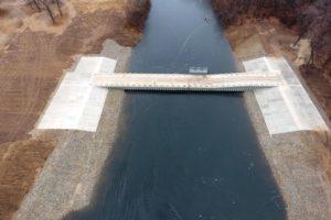 В Волгоградской области завершается строительство переливной плотины