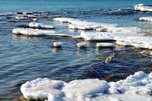 Ледовая обстановка в Каспийском море по спутниковым данным на 19 января 2021 г.